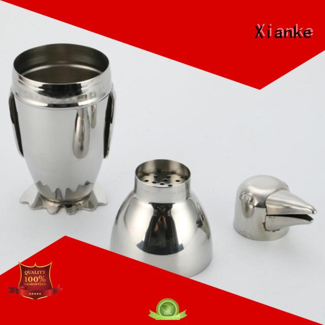 Xianke stainless steel metal shaker body for wholesale