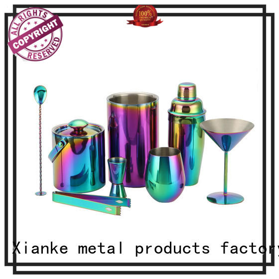 electroplated luxury cocktail shaker set mixing bartender