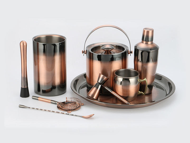 Xianke copper stainless steel cocktail shaker set mixer for wholesale-3