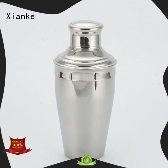 stainless steel custom cocktail shaker top selling rocket for martini