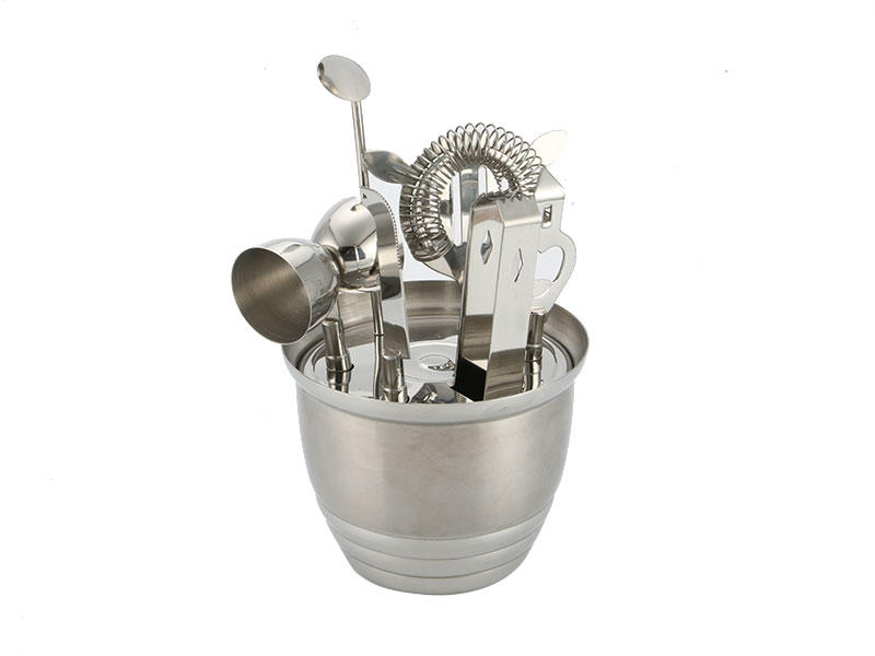 Xianke vintage stainless steel shaker set mixing for bartender