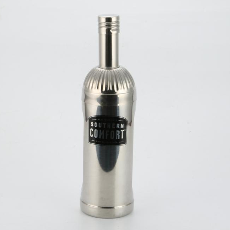 Stainless steel shaker bottle 700ml with 2-piece design and embossed logo