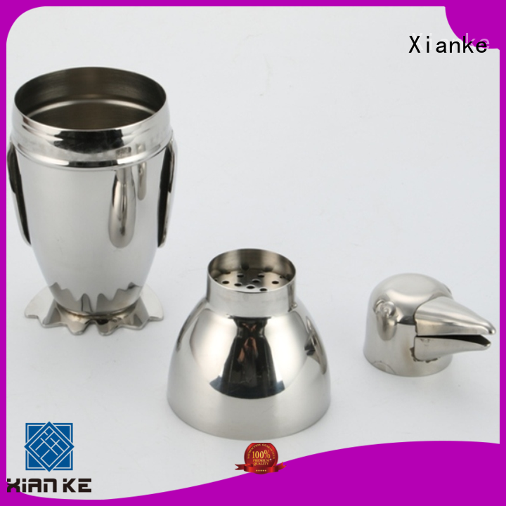 Xianke hot-sale cocktail shaker manufacturers body for wholesale