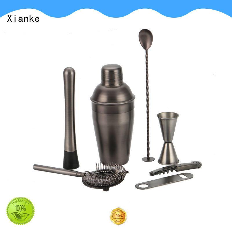 Xianke electroplated barware cocktail set bulk order for club