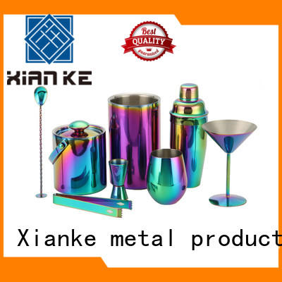 Xianke hot-sale cocktail shaker bar mixer set finish for bartender