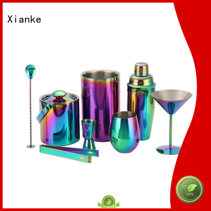 Xianke electroplated stainless steel shaker set mixer bar ware