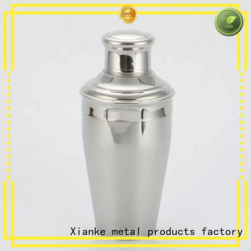 Xianke stainless steel shaker steel glass for boston