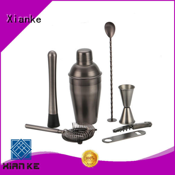 Xianke copper personalized cocktail set bulk order bar ware