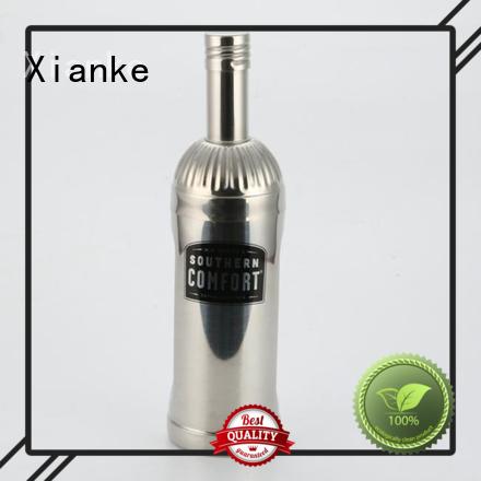 Xianke custom stainless steel drink shaker body for vodka