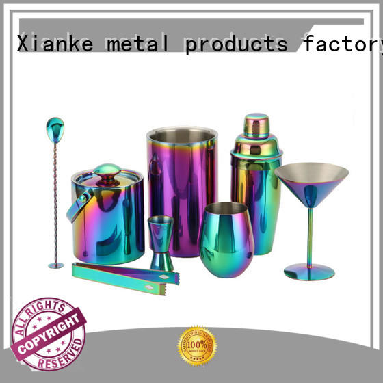 Xianke stainless steel martini shaker kit universal