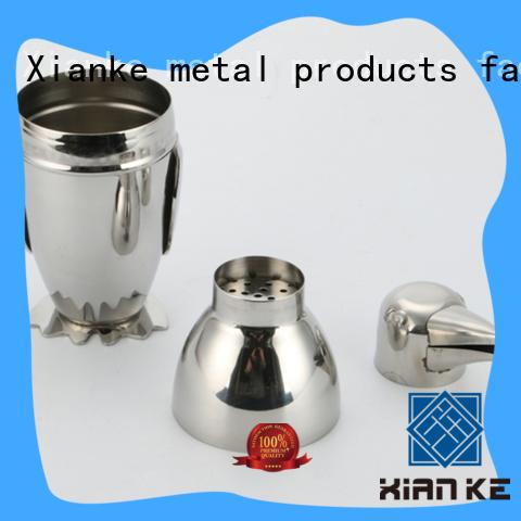 Xianke bulk order stainless steel cocktail shaker body for boston