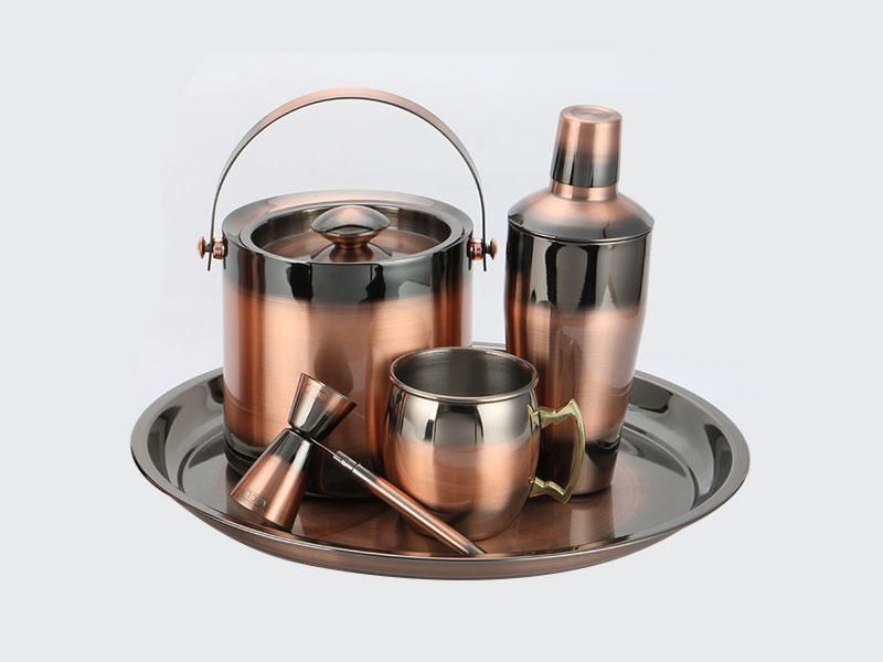 Xianke copper stainless steel cocktail shaker set mixer for wholesale-2