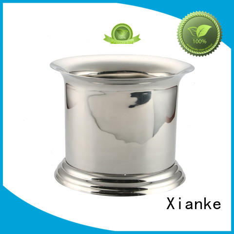 cut stainless steel wine cooler bucket side gathering