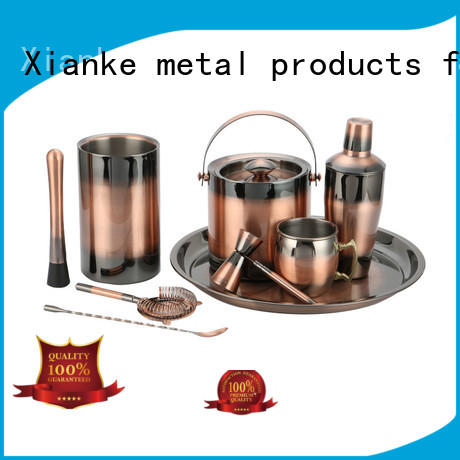 Xianke copper stainless steel cocktail shaker set mixer for wholesale