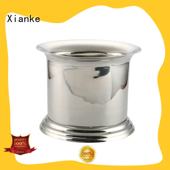 Xianke stainless steel personalized ice bucket stainless steel side for party