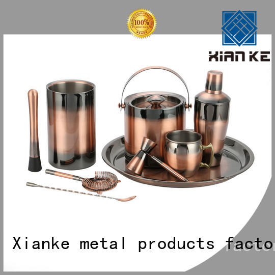 Xianke hot-sale stainless steel bar set black for wholesale