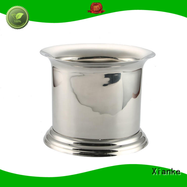Xianke durable personalized ice bucket stainless steel sloped for bar