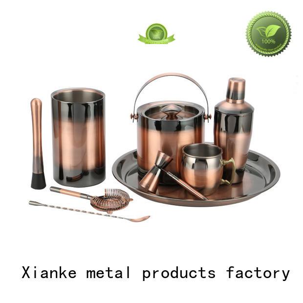 Xianke setcocktail stainless steel bartender kit finish shaker