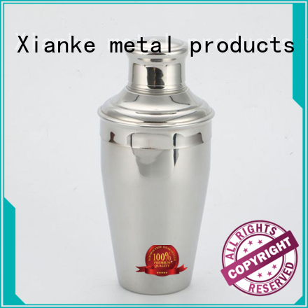 Xianke stainless steel cocktail martini shaker for wholesale