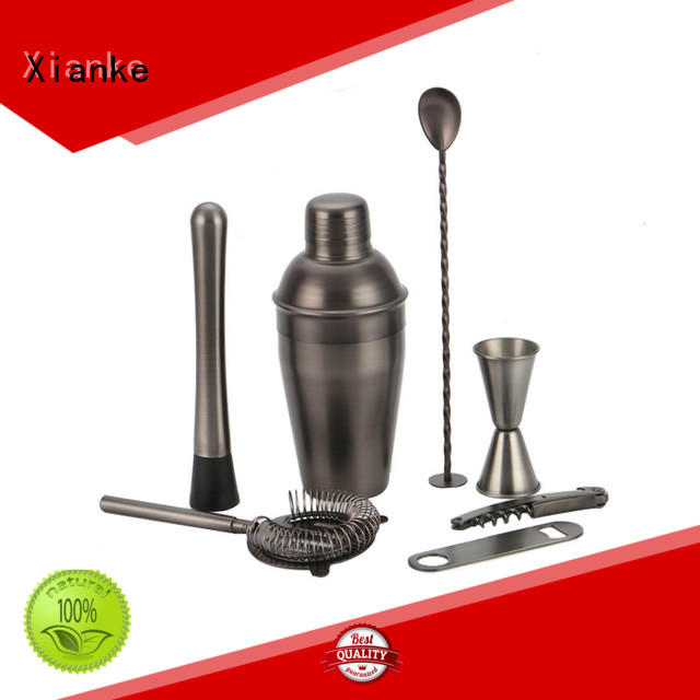 Xianke copper barware cocktail set mixer