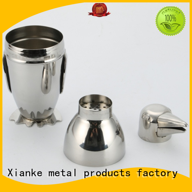 Xianke stainless steel stainless steel bar shaker glass for martini