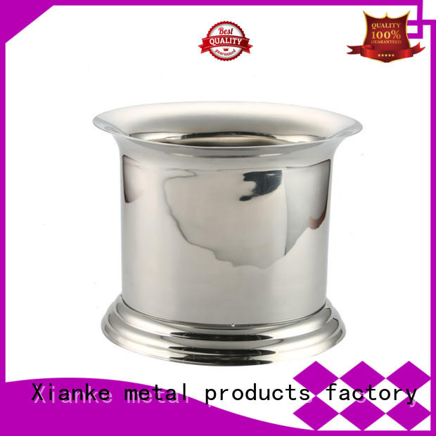 double walled personalised metal ice bucket tong for gathering