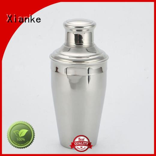 Xianke stainless steel cocktail shaker bottle for vodka