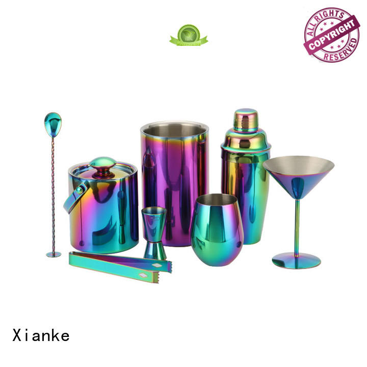 electroplated stainless steel bar set hot-sale