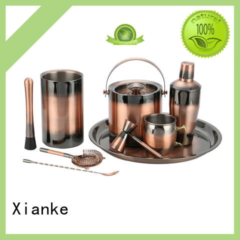 Xianke custom stainless steel cocktail bar set set for bartender
