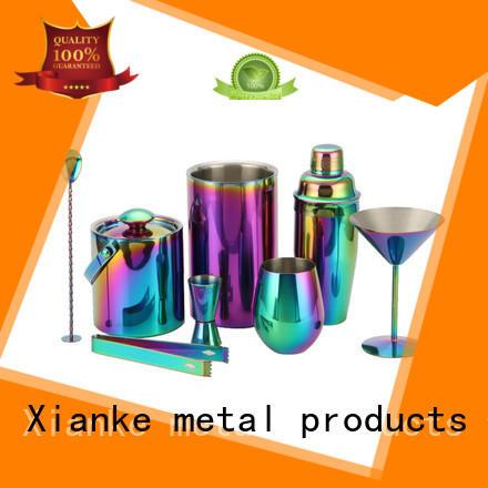 Xianke vintage retro cocktail shaker set mixer
