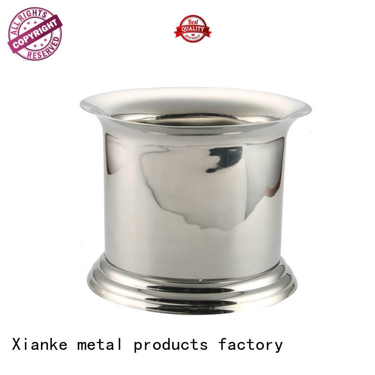 Xianke high quality stainless steel wine chiller bucket sloped for gathering