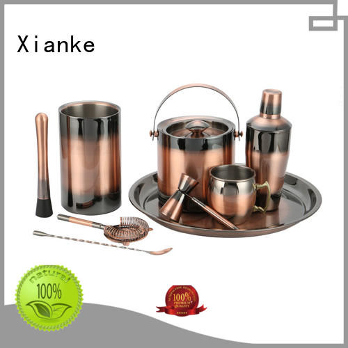 Xianke vintage personalized cocktail shaker set finish for wholesale