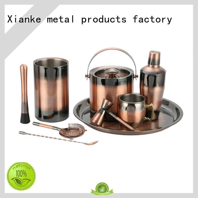 Xianke unique personalised cocktail shaker set mixer for wholesale