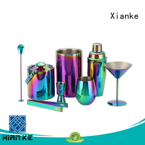 Xianke electroplated luxury cocktail shaker set top brand for club
