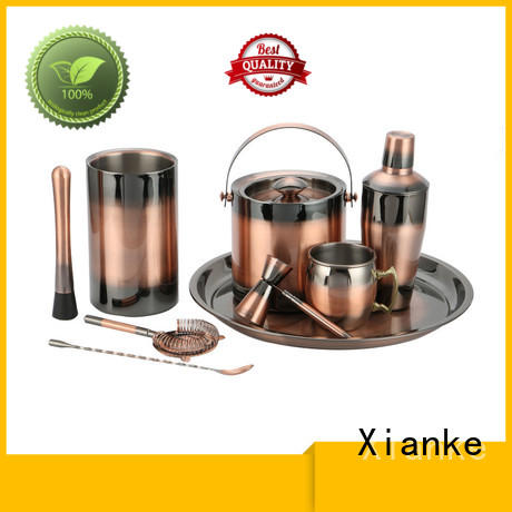 Xianke popular martini shaker set stainless steel for club