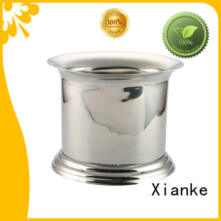 large capacity stainless steel champagne bucket with stand handle for party Xianke
