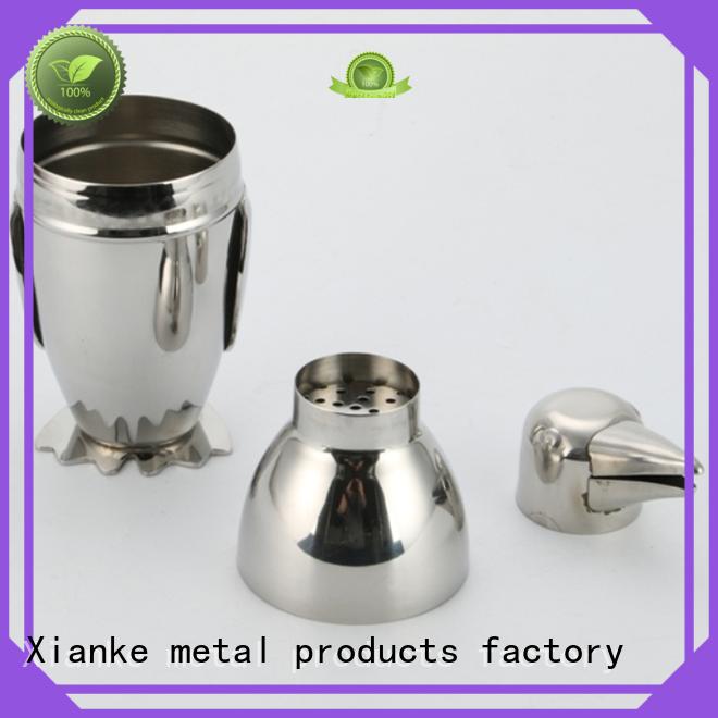 Xianke cheapest steel shaker body for martini