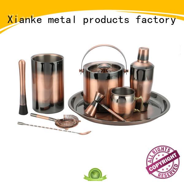 stainless steel measuring jigger set bar ware